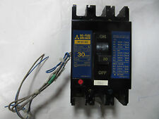 Mitsubish Nf30-Ss No Fuse Circuit Breaker 3 Pole 30 Amps 600V With Trips Vgc!