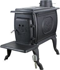 Wood Burning Stove Log Heater 900 Square Foot Cast Iron Cabin Garage