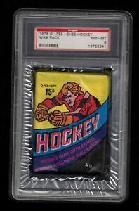 1978 O-Pee-Chee Hockey Wax Pack PSA 8 NMMT BOSSY ??