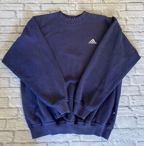 Vintage Adidas 1990's Blue Sweatshirt Jumper Size Medium