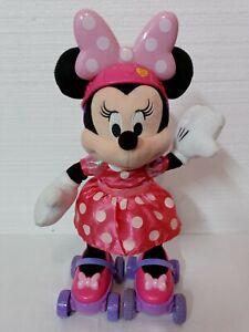 Disney Super Roller Skating Minnie Mouse Plush Doll Singing Talks Skates Twirls