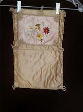 """VERY RARE FRENCH ANTIQUE SILK HAND EMBROIDERED VICTORIAN BOOK COVER 9"""" X 15"""""""