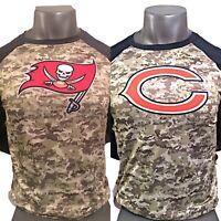 Nike NFL Salute To Service Sideline Bears/Buccaneers 3/4 Sleeve Shirt SZ Medium