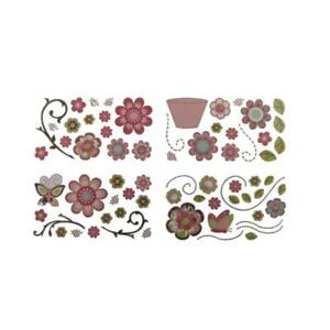 CoCaLo Baby Pink Removable Floral Applique Wall Decal Set  4130