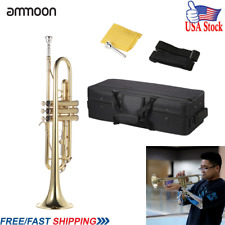 Bb Trumpet Wind Instrument Professional Brass Musical Concert Performance A7R8