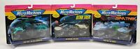 Lot Of 3 1993 Galoob Micro Machines Star Trek Complete Collection Toy 65825