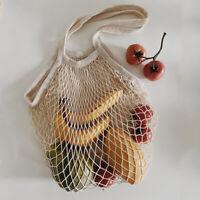 Eco Mesh Cotton Linen Shopping Shoulder Bag Reusable Fruit Storage Handbag Totes