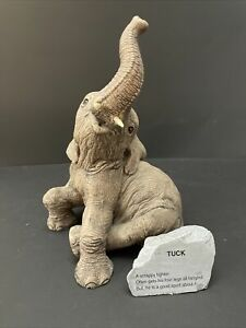 """The Herd #3105 Baby Elephant Figurine - """"TUCK"""" by Marty Sculpture 1987"""