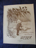 Partition Un Orage Weber  Music Sheet Grand Format