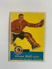 1957-58 Topps #20 Glenn Hall RC - Chicago Blackhawks / SET BREAK