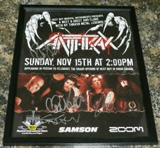 Anthrax signed promo poster The Big 4 members with Metallica Megadeth Slayer
