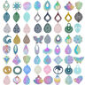 5/10pcs 201 Stainless Steel Filigree Pendants Colorful Dangle Charms DIY Earring