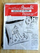 "Vintage Walt Disney BAMBI Quilted 12"" Pillow by Paragon  UNOPENED"