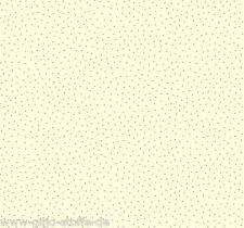 Makower Metallic Creme Punkte Patchworkstoff Stoff Weihnachten Patchwork Quilten