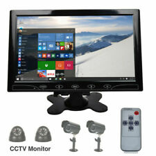 "10"" Security Monitor 1024X600 LCD HDMI VGA Display Screen Speaker Remote Control"
