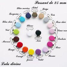 """AU CHOIX 30 pinces bretelle Attache tétine /& doudou /""""Coeur/"""" Passant de 25 mm"""