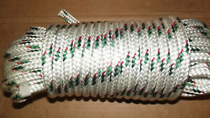 "7/16"" x 36' Double Braid Polyester Sail/Halyard Line, Jibsheets, Boat Rope"