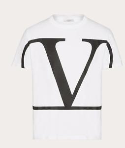Valentino Mens White LOGO Top Size S -