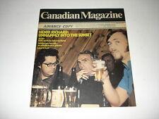 HENRI RICHARD Montreal Canadiens on cover Canadian magazine November 30 1974