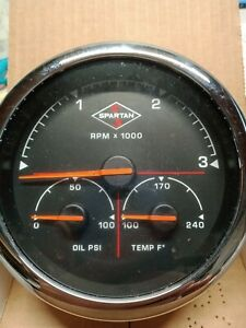 NEW Spartan Gauge NGI 3-in-1  5 INCH TACH AMBER LIGHT 00041369