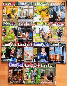 Landlust 14 Zeitschriften aus 2007 bis 2014 Winter Basteln Rezept Deko Landleben