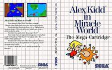- Alex Kidd In Miracle World Master System Replacement Box Art Case Cover Only