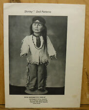 """Vintage 1983 Shirley Pattern Geronimo American Indian Outfit for 20"""" doll Uncut"""