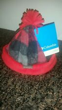 Infant Columbia Red Plaid Hat & Mittens  Fleece