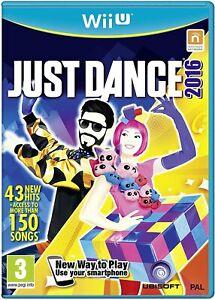 JUST DANCE 2016 NINTENDO WIIU WII U USATO OTTIME CONDIZIONI BALLO DANZA DVD CD