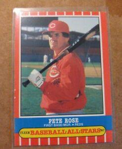 1987 Fleer Baseball All-Stars Baseball Card #37 Pete Rose