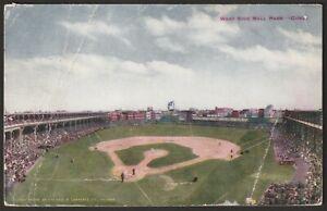 Rare 1911 Chicago Cubs West Side Grounds Baseball Stadium Postcard