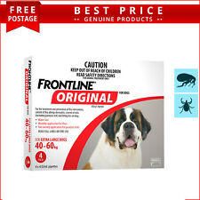 Frontline Original RED For Dogs 40 to 60 Kg 4 Doses Flea and Tick Prevention