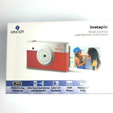 Minolta Instapix 2 in 1 Instant Print Digital Camera & Bluetooth Printer, Pink