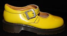 Dr Martens Mary Jane Style Shoes Doc Yellow Sz 1 Canary