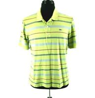 Lacoste Green Stripe Cotton Pique Polo Golf Shirt Size 5 Croc France Peru