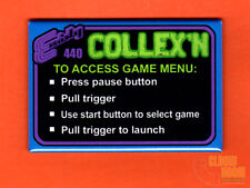"Exidy Collexn multigame 2x3"" instructional magnet"