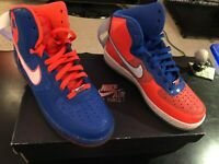 Nike Air Force 1 SHEED KNICKS NEW IN BOX RARE DOUBLE COLOUR 9.5