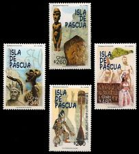 CHILE 2000-Easter Island, Dance, Statue, Rock Carving-Set of 4-MNH-S.G.1915-1918