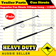 2 x Superior Gas Struts 600mm Long 1100N - TRAILER CARAVAN TENT