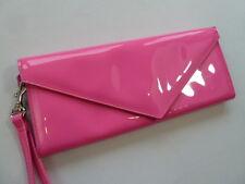 Jacobs by Marc Jacobs Pink Vegan Patent Flap Clutch Wristlet Evening Bag Purse