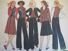 Lovely VTG 74 McCALLS 5190 Misses Unlined Jacket Vest Skirt & Pants PATTERN 10