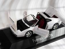 """Ferrari 348ts 348 """"Targa"""" weiß weiss bianco blanc white, Herpa in 1:43 boxed!"""