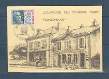 carte 1er jour  journée du timbre Marianne de Gandon  70 Ronchamp     1995