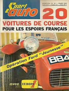 SPORT AUTO 26 1964 RALLYE DE MONTE CARLO COLIN CHAPMAN MORGAN 4/4 PONTIAC GTO