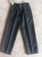 Bnwt Boys Back To School Black Water Repellent Trousers Age 10-11 Years New