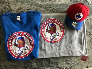 Buffalo Bisons Lot Blanket-Shirt-Hat All New Unused
