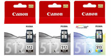 2x Canon PG512 Black & 1x CL513 Colour Ink Cartridges For PIXMA MP260 Printer