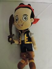 Disney Store Jake and the Neverland Pirates Jake Plush Stuffed Doll EUC