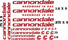 CANNONDALE  BICYCLE DECAL KITS (20pcs) for $12.99   FREE SHIPPING/CHOOSE COLOR