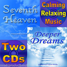 2 x Music CDs Relaxing Calming Music for Stress, Anxiety, Panic Attacks, Panic